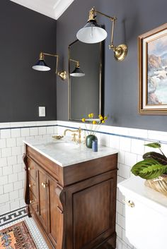 Easy and fun bathroom decor tips - Are you hunting for ideas for your bathroom design and style? With these wonderful bathroom layouts, there is a room for everyone. Click the link to learn more. Bad Inspiration, Bathroom Inspiration, Bathroom Ideas, Bathroom Vanities, Bathroom Cabinets, 1920s Bathroom, Bathroom Fixtures, Bathroom Remodeling, Tuscan Bathroom