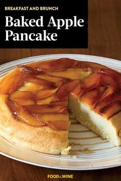 This baked apple pancake recipe incorporates golden delicious apples, lemon juice and maple syrup to create the ultimate fall recipe. Whether you're eating this apple recipe for a brunch alongside an apple mimosa or even for dessert paired with vanilla ice cream, it's a great choice for a fall recipe.#applerecipes #fallrecipes #fallbreakfasts #fallbrunch #applepancakes #pancakerecipes Apple Recipes, Fall Recipes, Wine Recipes, Baked Apple Pancake, Golden Delicious Apple, Best Brunch Recipes, Hot Dog Buns, Pancakes, Baking