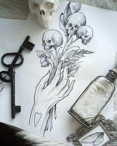 Dark Art Drawings, Art Drawings Sketches, Tattoo Sketches, Tattoo Drawings, Drawing Journal, Art Sketchbook, Time Tattoos, Body Art Tattoos, Scary Art