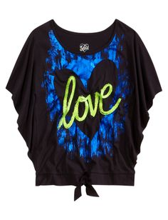 Girls Clothing | Short Sleeve | Foil Graphic Circle Top | Shop Justice