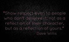 Show respect