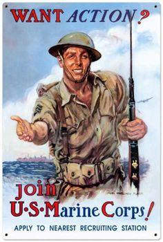 "Limited Edition Poster 24/""x36/"" US Marine Corps- Marines USMC RARE"