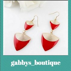 Red and gold earrings New in packaging. Zinc alloy Jewelry Earrings