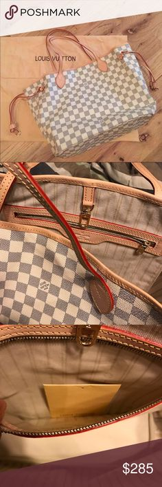 Azur Neverfull MM Great bag , leather trim , mm , inspired , price neg Bags Totes