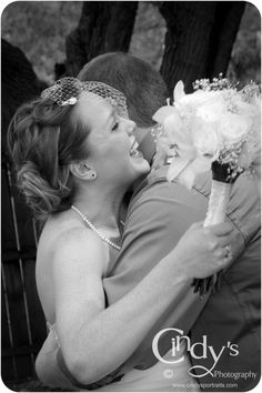 Bride and groom express happiness and love after saying I do, in Dayton, Ohio - Are you or someone you know getting married Ohio, check out Cindy's Photography for an experienced and affordable wedding photographer. © Cindy's Photography