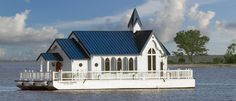 World's only floating church non-denominational services while in the intra-coastal waters of Sarasota, Florida. Old Country Churches, Old Churches, Country Roads, Take Me To Church, Cathedral Church, Church Building, Chapelle, Place Of Worship, Kirchen