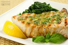Swordfish is a great choice for grilling, and topped with a herb butter made from fresh basil and lemon zest it makes an outstanding meal, with very little fuss.