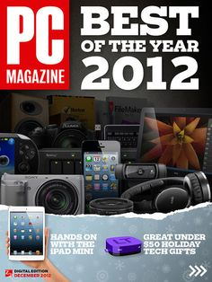PCMag picks the best products of 2012 in the December issue of its digital edition.