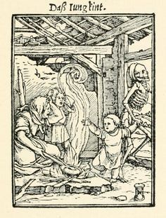 """""""The Child"""" -  woodcut, 1423 (re-print from 1903)"""