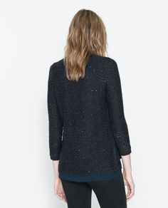 ZARA - NEW THIS WEEK - SEQUINNED SWEATER
