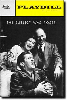 The Subject Was Roses Tony Award for Best Play 1965 Martin Sheen, Dramatic Arts, Another World, Theatre, Musicals, Broadway, Tv Shows, Roses, American