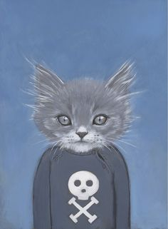 Henry - A Cat in Clothes - Fine Art Giclee Print