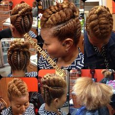 Very beautiful protective style updo