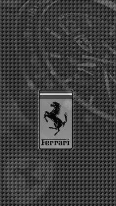 720 x 1280 Ferrari Logo on light carbon fiber chrono watch BW