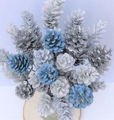 White Pine Cone, Pine Cone Art, Pine Cone Crafts, Pumpkin Arrangements, Pumpkin Centerpieces, Pine Cone Decorations, Christmas Decorations, Pinecone Wedding Decorations, Fall Crafts