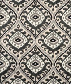 A bold ikat upholstery fabric in a large scale design of black, charcoal grey, ash grey and white. This fabric is suitable for drapery, Ikat Fabric, Drapery Fabric, Grey Fabric, Curtain Patterns, Textile Patterns, Print Patterns, Crochet Patterns, Textiles, Trapper Keeper