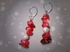 #OMGQ! Little Gems Manila Red earrings