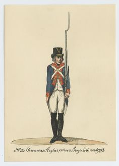 British; Royal Artillery, Gunner, Bruges, 16th April 1793 by CCP Laso based on original documents in the possession of the Belgian Government