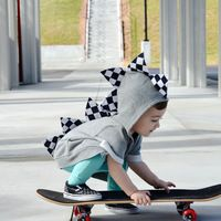 Skater Toddler Dino Hoodie// by Wolfe and Scamp
