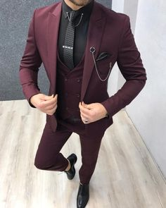 GentWith Suits Archives - Gent With Black And Red Suit, Black Suits, Burgandy Suit Men, Dark Red Suit Men, Burgundy Shoes, Plaid Suit, Wool Suit, Red Plaid, Black Men