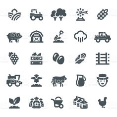 Farming and Agriculture Icons royalty-free farming and agriculture icons stock vector art & more images of tree