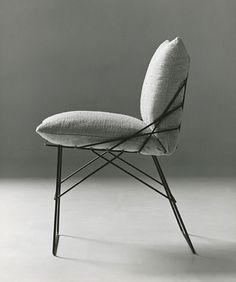 Enzo Mari, 1971, Progetto 1071, Sof Sof, sedia con struttura in tondino di ferro, cm 46x57x84 h.