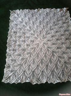 Девочки, нашла в интернете рисунок и схему вязания платка, но нет описания самого вязания. Не могу разобраться: с чего начать и как вязать. Может быть, кто-то уже вязал и подскажет как нужно?