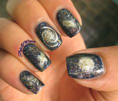 Spiral Galaxy Tattoo The last time i did galaxy Types Of Galaxies, Spiral Galaxy, Galaxy Nails, Paws And Claws, Beautiful Nail Art, Beauty Nails, Pretty Nails, My Nails, Galaxy Universe