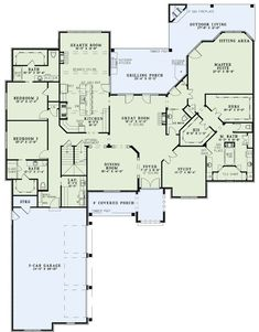 I like this bathroom layout.the link didn't lead to the floorplan and the plan number wasn't listed House Plans And More, Luxury House Plans, Dream House Plans, House Floor Plans, My Dream Home, Bedroom Floor Plans, The Plan, How To Plan, House Ideas