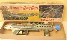 Vintage Atomic Ray Gun b/o space tin toy Nomura Japan with box