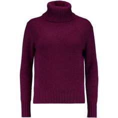 N.Peal Cashmere - Cashmere Turtleneck Sweater (3.591.340 IDR) ❤ liked on Polyvore featuring tops, sweaters, burgundy, wine sweater, burgundy sweater, polo neck sweater, turtleneck tops and cashmere sweater