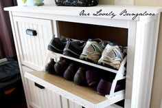 A dressed up Ikea shoe cabinet.