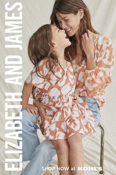 This is going to call for a pic! Get coordinating looks that are sweet + chic for you and your mini. Designed by Ashley Olsen and Mary-Kate Olsen, the Mom + Mini collection has classic pieces both of you will wear again + again. Find dresses, tops and more from Elizabeth and James at Kohls.com. #mommyandme #outfitideas Mary Kate Olsen, Ashley Olsen, Elizabeth E James, Mother Daughter Pictures, Family Picture Outfits, Girl Fashion, Fashion Outfits, Modest Dresses, Mini Dresses