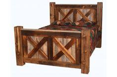 Natural Barnwood Pioneer Bed   #