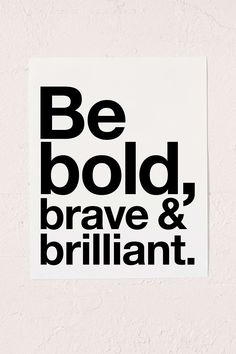 AngelStar Forever Be Bold, Brave & Brilliant Art Print - Urban Outfitters