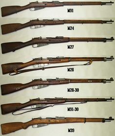 Russian Mosin Nagant designs, from the classic Czarist M1891 long rifle at top to the Soviet M44 and M91/59 at bottom. Description from pinterest.com. I searched for this on bing.com/images