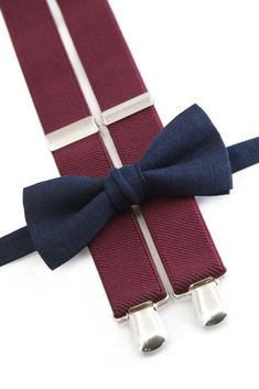 Wedding outfit Navy Blue Bow Ties & Burgundy suspenders for ring bearer. Enjoy 10% OFF everything at our Etsy store with coupon code : PIN10 #navywedding #navyties #navywedding #weddingwire #weddings #groomsmen #CutieTie #fatherofthebrideoutfit #father #of #the #bride #outfit #father #of #the #bride #outfit #ideas Navy Blue Suspenders, Navy Blue Bow Tie, Bowtie And Suspenders, Leather Suspenders, Wedding Decor, Our Wedding, Wedding Ideas, Wedding Ring, Wedding Stuff