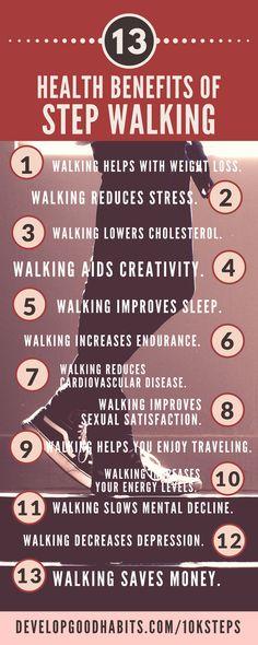 Health Benefits of step walking