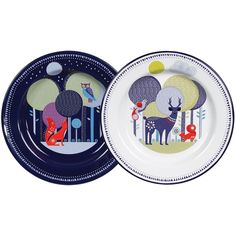 Wild and Wolf   Set of Two Plates – Bloomsbury Store