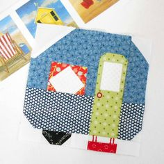 Am wishing I had made a pink and red caravan.  I'll just have to have a pink car instead!  #patchsmithbad2017 #spellingbeebook #caravanblock #beeinmybonnet #fqsfun #picturedayquilt #camperblock