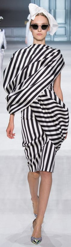 Giambattista Valli Haute Couture Fall 2014 striped dress women fashion outfit clothing style apparel @roressclothes closet ideas