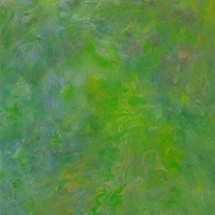 Rautio: Puutarha toukokuussa - Garden in May, 70x70 cm, 2017.