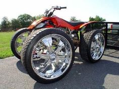four wheeler pimped out....