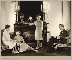 The royal family. 1946. Cecil Beaton. H.M. King George VI, H.M. Queen Elizabeth (later H.M. Queen Elizabeth, the Queen mother), H.R.H. Princess Elizabeth (later H.M. Queen Elizabeth II) and H.R.H Princess Margaret (later H.R.H. Princess Margaret, Countess of Snowdon.)