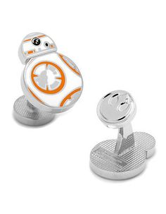 BB8 has made its way here, and this unique little droid is ready to hold your cuffs together Star Wars style. Plated Base Metal And Enamel Fixed logo back closu