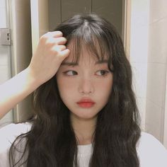 Ulzzang Korean Hairstyle 얼짱 I Can& Watch KoreanMakeupLipstick KoreanMakeupPr . - Ulzzang Korean Hairstyle 얼짱 I Wait For You KoreanMakeupLipstick KoreanMakeupProducts 6682920321 - Korean Girl Ulzzang, Ulzzang Girl Fashion, Ulzzang Girl Selca, Pretty Korean Girls, Cute Korean Girl, Asian Girl, Asian Men, Hairstyles For Round Faces, Girl Hairstyles