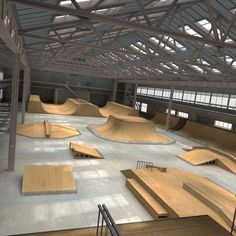 skateboard park interior - Google Search