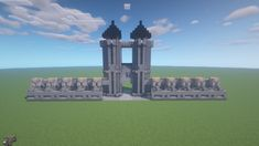 [Minecraft] Mittelalterlicher Stadteingang mit Mauer Statue Of Liberty, Minecraft, Travel, Middle Ages, Door Entry, City, Statue Of Liberty Facts, Viajes, Statue Of Libery