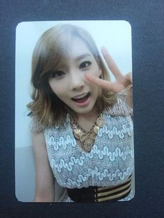 SNSD TAEYEON MR TAXI Official Photo Card 3rd Album Girl's Generation Photocard