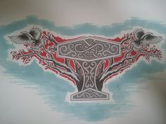 Mjolnir and the Ravens by BloodlessSnow.deviantart.com on @deviantART